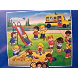 Fisher-Price Little People Developmental Learning Adventure Puzzle ~ School Yard (24 Pieces)