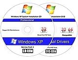 Windows XP Professional (SP3) Reinstall Install Disc - 2018 Universal Driver Install Disc - No Internet Needed - 2 Disc Installation Kit
