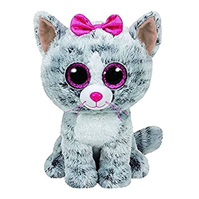 Amazon.com: Ty Beanie Boos Gray Cat Plush Toy Doll Baby Girl Birthday Gift Stuffed & Plush Animals 15cm Big Eyes Stuffed Animals & Plush: Toys & Games