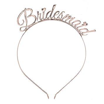 Hens Night Party ROSE GOLD Bride Headband