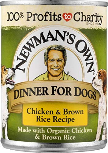 Newman'S Own Chicken & Brown Rice Formula For Dogs, 12.7-Ounce Cans (Pack Of 12)