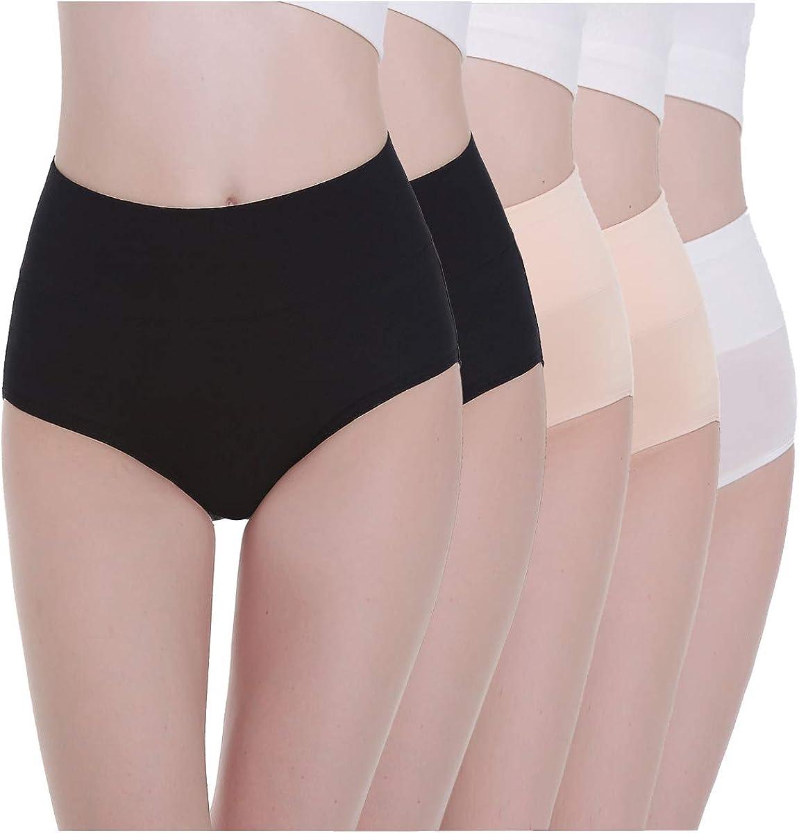 TIFIY Regalo Braguita de Talle Alto Algod/ón para Mujer Pack de 1 Algod/ón Bragas de Cintura Alta C/ómodo Talla