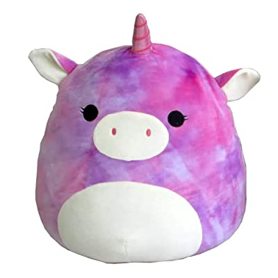 "Squishmallow 5"" Plush Stuffed Animal Lola (Purple/Pink Tie Dyed Unicorn), Multicolor: Toys & Games"