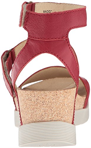 Women's Red Sandal Lipstick Wedge Mousse London WINK196FLY Fly BwHATx