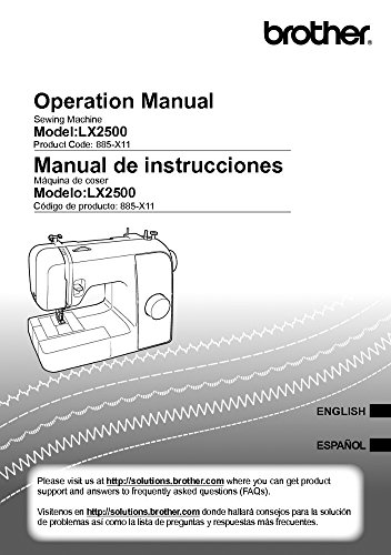 (Brother LX2500 Sewing Machine Owners Instruction Manual)
