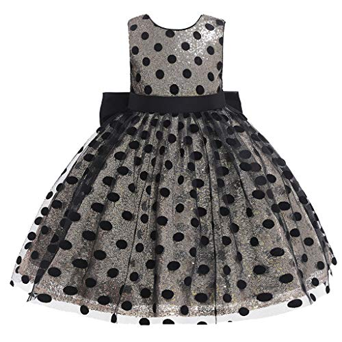 (Sunyastor Girls Costume Cosplay Dress Dot Tulle Bow Princess Lace Dress Flower Pageant Party Dresses Holiday Dresses White)