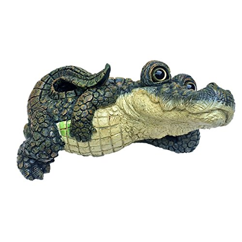 Toad Hollow Extra Large Lying Gator Home & Garden Alligator Statue 21