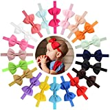 QandSweet Baby Girls Headbands and Forked Tail Bow Photography (Big Bow Tie 20pcs)