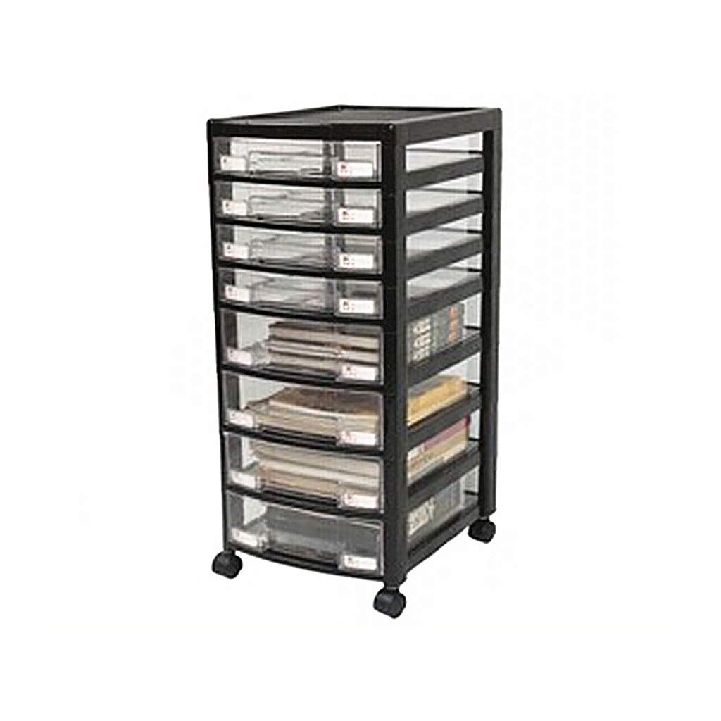 QSJY File Cabinets 8-Layer Transparent Plastic Drawer Type Pulley Data Office Storage locker31x36.5x66.5cm by QSJY File Cabinets