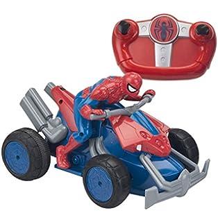 spider man 7903 voiture radiocommande moto quad 23 cm