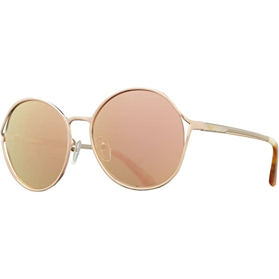 332b2507ce26 TOMS 10008798 Women's Rose Gold Frame Rose Lens Round Sunglasses ...