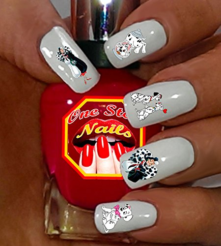101 Dalmatians Waterslide Nails Decals Set of 54. 101D-54 by One Stop Nails