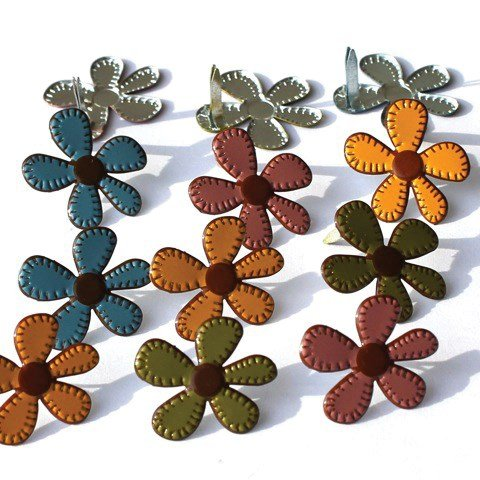 Eyelet Outlet Brads: Stitched Fall Flowers