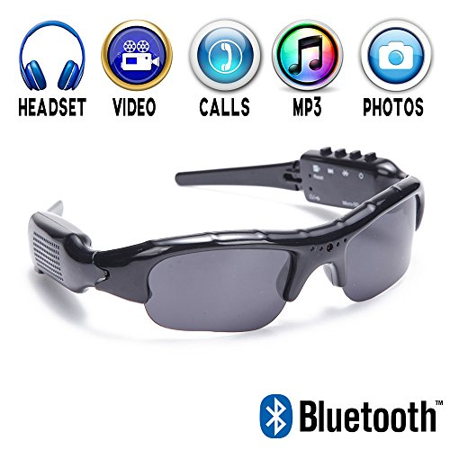 Bluetooth Sunglasses Recorder Headphone Handsfree product image