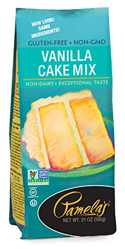 Pamela's Products Gluten Free  Cake Mix, Classic Vanilla 21-Ounce Bags (Pack of 6) - Gluten Free Vanilla Cake Mix