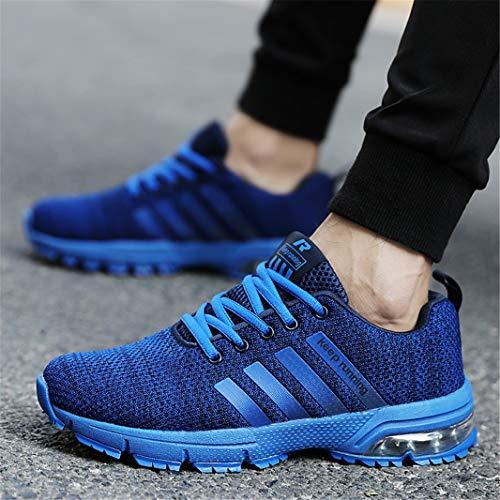 Pour Sport Athltique Chaussures De Ziitop Fitness Hommes Course Bleu Gym Lgres Casual Lacets Baskets R6w4Pxwqv