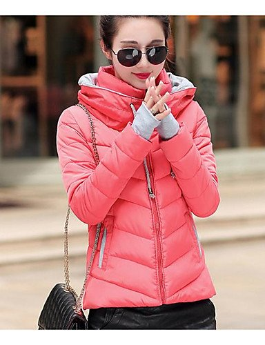 Print Solid Cotton Sleeves Polypropylene Coat Down Acrylic red amp;SHANGYI Striped TT Long Going Simple Women's Active Others out wR4v8Pq
