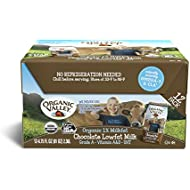 Organic Valley, Chocolate Milk Boxes, Shelf Stable 1% Milk, Healthy Snacks (Pack of 12)