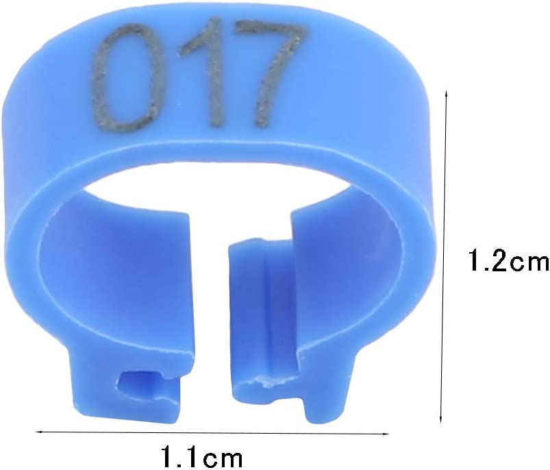 GUAngqi Bird Rings Leg Bands Racing Pigeon Foot Ring for Pigeon Parrot Finch Canary Hatch Poultry Rings,Purple
