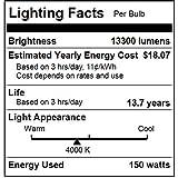 Sunlite 03651-SU MP150/U/MED M102/O Protected Metal Halide Lamp, 150 Watts, Medium Base (E26), Pulse Start, ED17, 15,000 Hours Life, 13300 Lumen, Clear Finish
