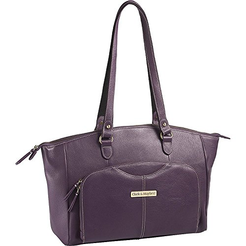 Clark & Mayfield Alder Leather 15.6 '' Laptop Handbag (Purple) by Clark & Mayfield