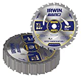 """7-1/4"""" x 24 Tooth Circular Saw Blades (Pack of 20)"""