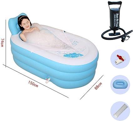 Baignoire gonflable /épaisse triple couche en PVC pour adultes id/éale pour les voyages