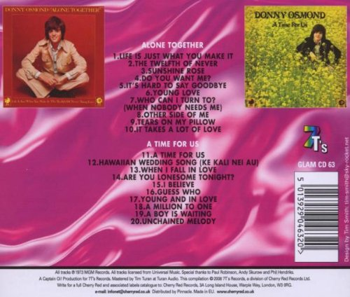 Alone Together / A Time For Us /  Donny Osmond