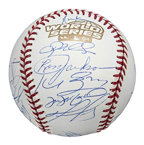 (Beautiful 2004 Boston Red Sox World Series Champs Team Signed Baseball MLB Auth)