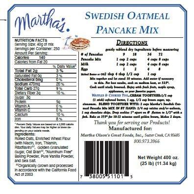 (Oatmeal Pancake & Baking Mix 5 lb. Bag)