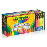 Crayola Sidewalk Chalk Sticks, Washable, Outdoor, Gifts for Kids, 64 Count, Outdoor Activities, Washable, Bright, Colourful, Craft Supplies, Gift for Boys and Girls, Kids, Ages 3,4, 5, 6 and Up, Arts and Crafts