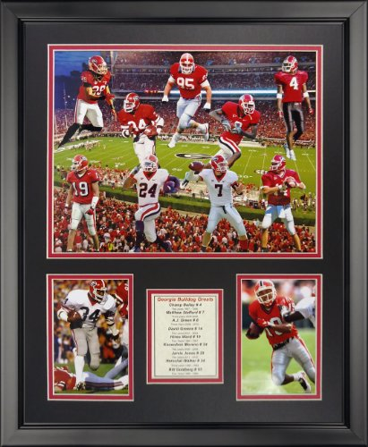"Legends Never Die NCAA Georgia Bulldogs Football Greats Framed Photo Collage, 18"" x 22"""