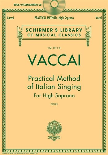 Vaccai: Practical Method of Italian Singing: High Soprano, Book/CD (Schirmer
