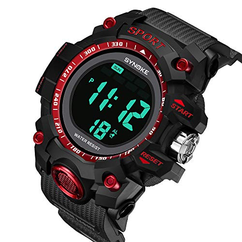 Fxbar, Fashion Watches for Teen Boys Waterproof Sport Analog Dive Watch Dress Watch(Red)