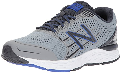 Image of New Balance Men's 680v5 Cushioning Running Shoe, Steel, 10.5 D US