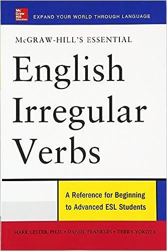 Amazon.com: McGraw-Hill's Essential English Irregular Verbs ...