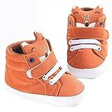 Susenstone Baby Girl Boys Fox Hight Cut Shoes Sneaker Anti-slip Soft Sole Toddler (13, Orange)