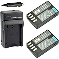 DSTE® 2x D-Li109 Battery + DC112 Travel and Car Charger Adapter for Pentax K-R K-30 K-50 K-500 KR K30 K50 K500 K-S1 K-S2 K-70 K-1 Camera