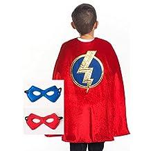 Little Adventures Super Hero Cape & Mask Set for Boys - Red Super Hero