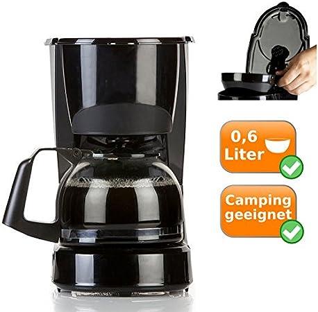 Cafetera eléctrica 0,6L para 5 tazas de café, para café fresco en cada día y noche Tiempo, Solo 600 W de potencia ...