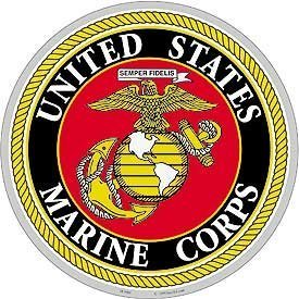 Amazon Com Usmc Logo Aluminum Sign Round 12 Quot Yard