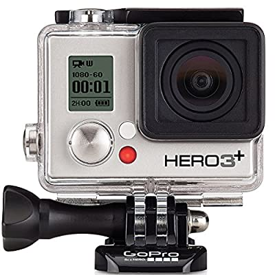 GoPro HERO3+ Silver Edition Camera (Built-in Wi-Fi, 1080p Movie, 10MP Photo, Waterproof to 131') (Certified Refurbished)