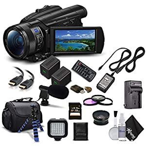 Flashandfocus.com 51Dq7ttw6fL._SS300_ Sony Handycam FDR-AX700 4K HD Video Camera Camcorder + Extra Battery and Charger + 3 Piece Filter Kit + Wide Angle Lens…