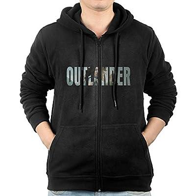 Outlander Men's Full Zipper Drawstring Hoodie Kangaroo Pocket Sweatshirts