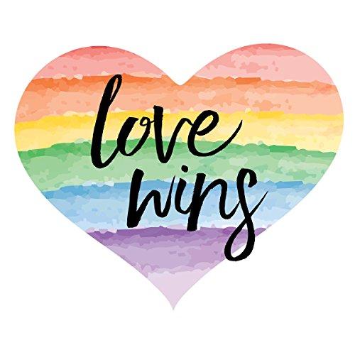Rainbow Heart Temporary Tattoo - Gay Pride Accessory - Temporary Tattoo - 2.5' x 2.25' - Set of 2 Body Art Tattoos