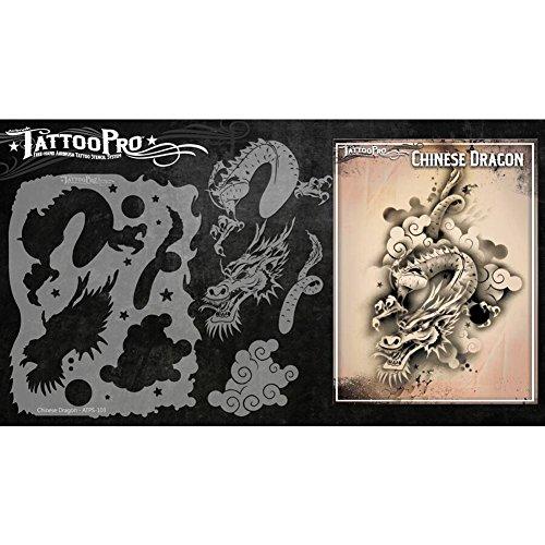 Tattoo Pro Stencils Series 1 - Chinese Dragon ()