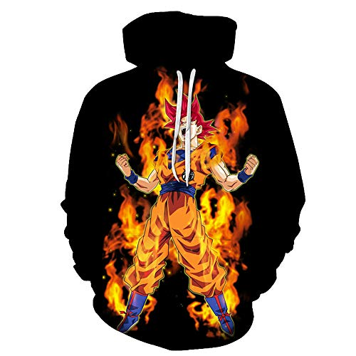 Lu&lu Men/Women/Boys/Girls Anime Dragon Ball Z Goku Hoodies 3D Print Pullover Sweatshirts Jacket S-6XL (Anime Jeans Men)