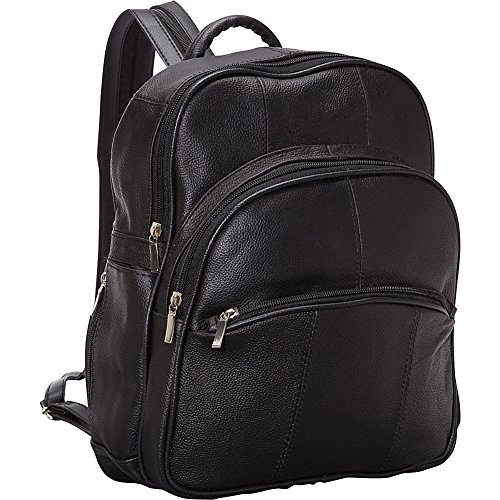 r-r-collections-leather-triple-zip-around-large-backpack-black