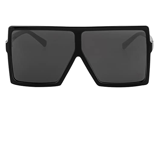21355f42dd Buauty Square Flat Top Shades Oversize XL Retro Designer Sunglasses Black