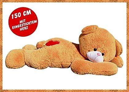 5a582a1aa0 Merkmal der XXL Riesenteddy Kuschelbär Geschenk Teddybär Kuscheltier Plüsch  Teddy braun 150 cm liegend Teddy mit Herz